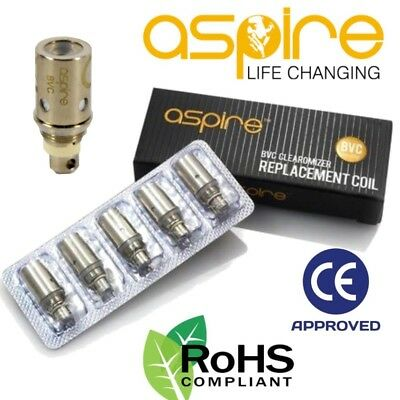 Genuine Aspire BVC 1.8 ohm Dual Coil Clearomiser E-Cig Vape K1 / ETS TPD UK