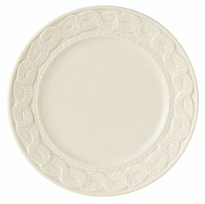 Belleek Galway Weave Cable Accent Salad Plate