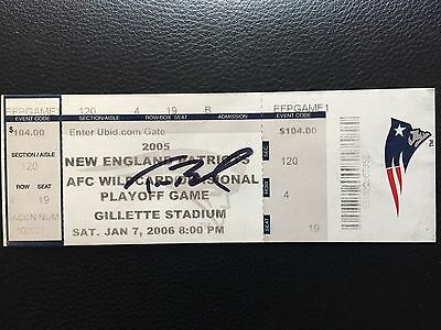 TOM BRADY Signed Autograph TICKET 2006 AFC Playoff Wildcard Game PSA DNA ONLY 1!