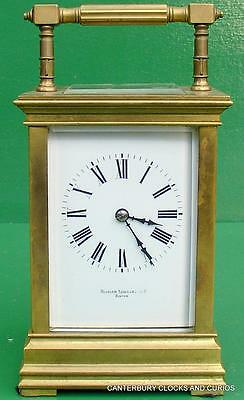 Bigelow Kennard & Co Boston Large Antique French 8 Day Striking Carriage Clock