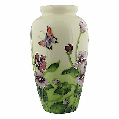 Large Primrose & Butterfly Design  Old Tupton Ware 28Cm Flower Vase New.