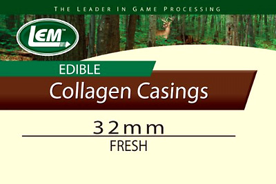 LEM Products Fresh Clear Edible Collagen Casing 32mm