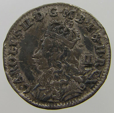 Great Britain 2 Pence Charles Ii 1690-1692  #t7 501