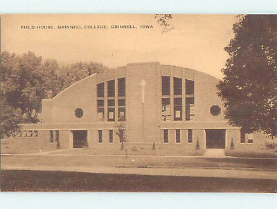 Unused Pre-Chrome FIELDHOUSE AT GRINNELL COLLEGE Grinnell Iowa IA L9340