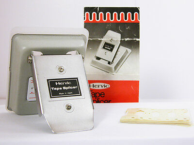 HERVIC Super-8 MOVIE FILM SPLICER With Instructions and Splicing Tape Nice!