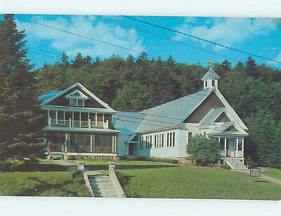 Unused Pre-1980 INLET CHURCH SCENE Adirondack Mountains New York NY L3047