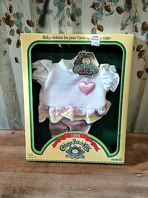 Vintage 1984 Coleco Cabbage Patch Kids Jersey Dress Outfit Mint in Box with Tag