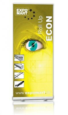 """Retractable Banner Stand 33"""" x 80"""" Trade Show Office free custom print"""