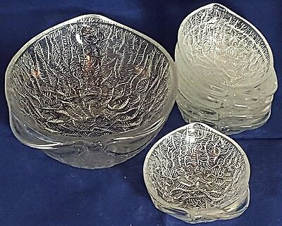Glass Dessert  Bowls Set 1 large and 5 small