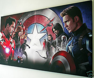 MARVEL AVENGERS  WALL ART  CANVAS PICTURE LARGE 18 x 32 inch  READY TO HANG