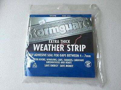 Weather Strip Stormguard Extra Tick - White 3.5M