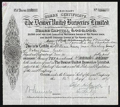 1895 The Denver United Breweries Limited