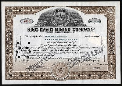 1936 Utah, USA: King David Mining Company