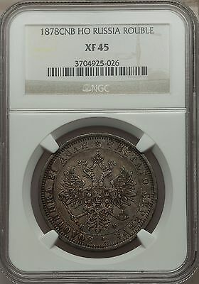 1878 Russia Silver Rouble NGC XF45 nice historical coin