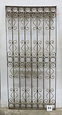 Antique Egyptian Architectural Wrought Iron Panel Grate (I-23)