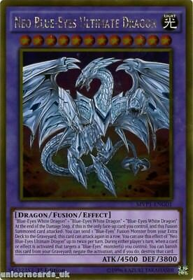 MVP1-ENG01 Neo Blue-Eyes Ultimate Dragon Gold Rare 1st Edition Mint YuGiOh Card