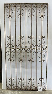 Antique Egyptian Architectural Wrought Iron Panel Grate (I-25)