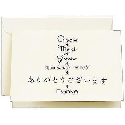 Crane & Co. Multi-lingual Thank You Note (CT1415) New