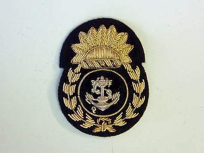 P&O Chief Petty Officers Cap Badge, woven with wire