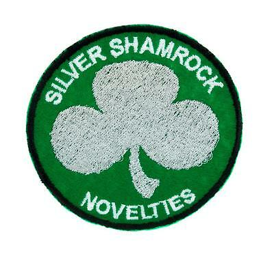 silver shamrock novelties patch iron on applique halloween iii clothing horror