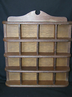 Vintage Wall Display Rack Wood Shelf Small Collectibles Wade Figurines Thimbles