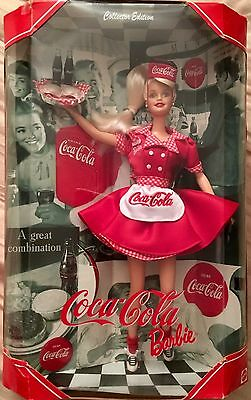 COCA-COLA WAITRESS Barbie Doll by Mattel 1999 Collector's Edition FREE SHIPPING