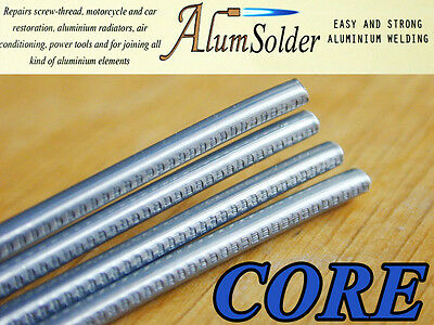 AlumSolder CORE - RODS WITH FLUX FOR LOW TEMP ALUMINIUM AND ITS ALLOYS WELDING.