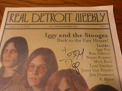 Autographed Iggy & the Stooges Real Detroit Weekly Aug 13th 2003 Signed Iggy Pop
