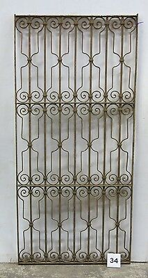 Antique Egyptian Architectural Wrought Iron Panel Grate (I-34)