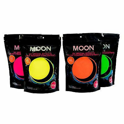 Moon Glow UV Splash Paint Powder -Set of 4 Neon SFX Concentrate Makes up to 160L