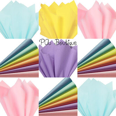 """PASTEL ASSORTMENT Tissue Paper for Gift Wrapping 15""""x20"""" Sheets Eco-Friendly"""