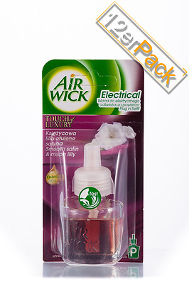 13,93€/100ml] 12x19ml AirWick Duftstecker Smooth Satin & Moon Lilly 100%Original