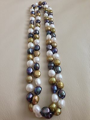 """Honora Freshwater Cultured Pearl Necklace 36"""""""