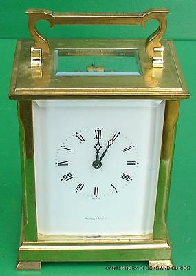 L'epee Huge Vintage French Striking 8 Day Carriage Clock Shortland Bowes