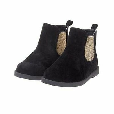 NWT Gymboree CATASTIC Black Gold Ankle Boots Many sizes toddler kid Girls