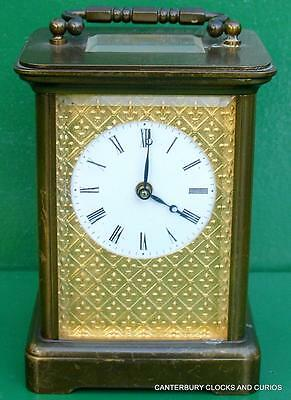 Matthew Norman Vintage 8 Day Masked Dial Swiss Carriage Clock