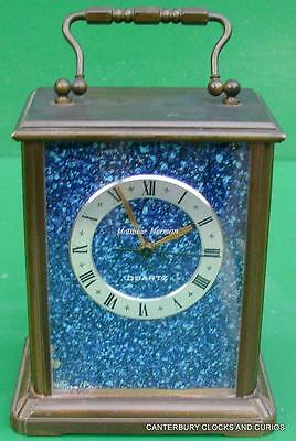 Matthew Norman Vintage Blue Quartz Swiss Carriage Clock