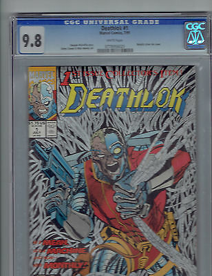 Deathlok #1 Cgc 9.8  Metallic Silver Ink Cover Bonus Nm Copy Of Comic