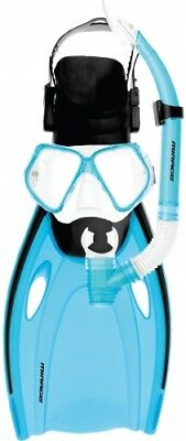 NEW Mirage Nomad  Adult Snorkel Set With Fins - Small/Medium