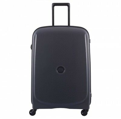 NEW Delsey Belmont  82Cm 4 Wheel Trolley Case Anthracite - in ANTHRACITE - 82cm