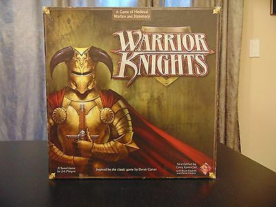 "Warrior Knights Board Game By Fantasy Flight Games ""New Edition"" 99% Complete"