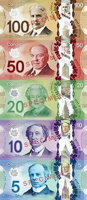 Bank Of Canada Polymer Set UNC