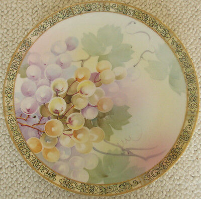 """Nippon Moriage 11"""" Charger/Plate with Grapes Design"""