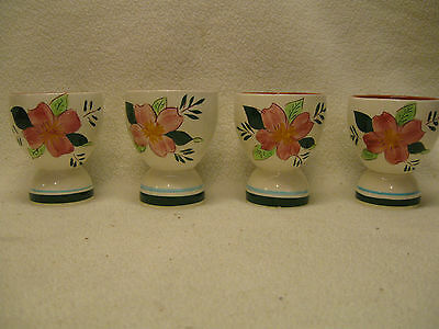 Stangl Country Garden Pattern (4) Egg Cups in Good Condition
