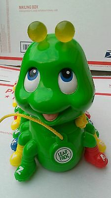 LeapFrog Green Alphabet Caterpillar Pal Pull Toy Music Sounds Colors Learning