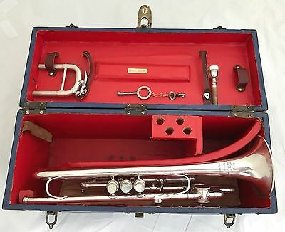 Antique Antoine Courtois Trumpet pitched in B/C/D/F Trumpet owned by LOUIS GASSI