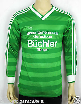 Adidas Originals Trefoil Green West Germany Jersey Maglia Maillot Rare M (St07)