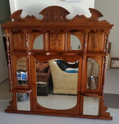Overmantle Mirror & shelves Circa 1800s