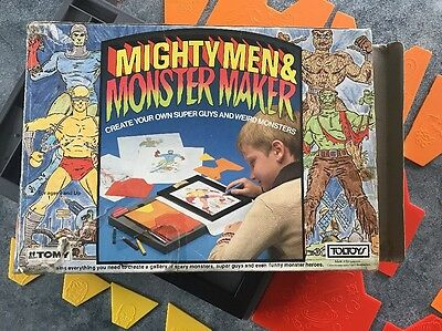 Vintage Game Mighty Men and Monster Maker. TOMY TOLTOYS 1980s
