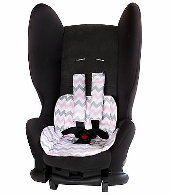 Car Seat Protector- Chevron Pink